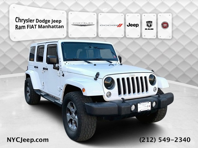 2016 JEEP WRANGLER UNLIMITED SAHARA WITH NAVIGATION & 4WD